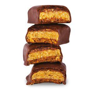 hazelnut covered with chocolate