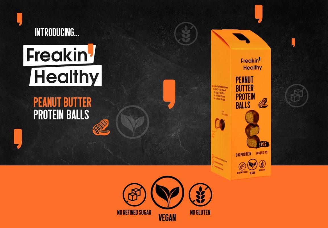 Peanut Butter Protein Balls - Freakin Healthy - Protein Bakeshop